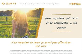 Développement du site Web Ma Juste Vie