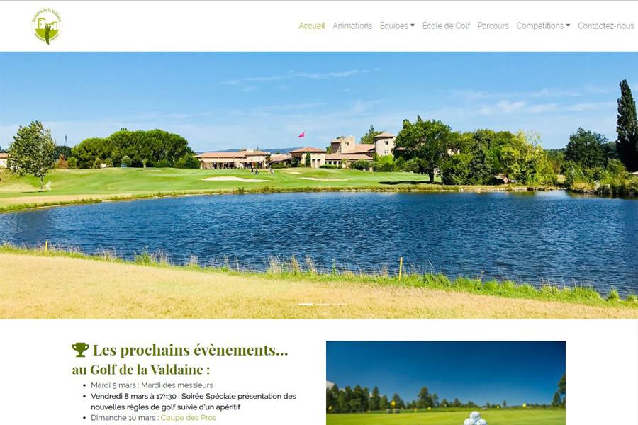 Accueil de l'AS Golf Valdaine
