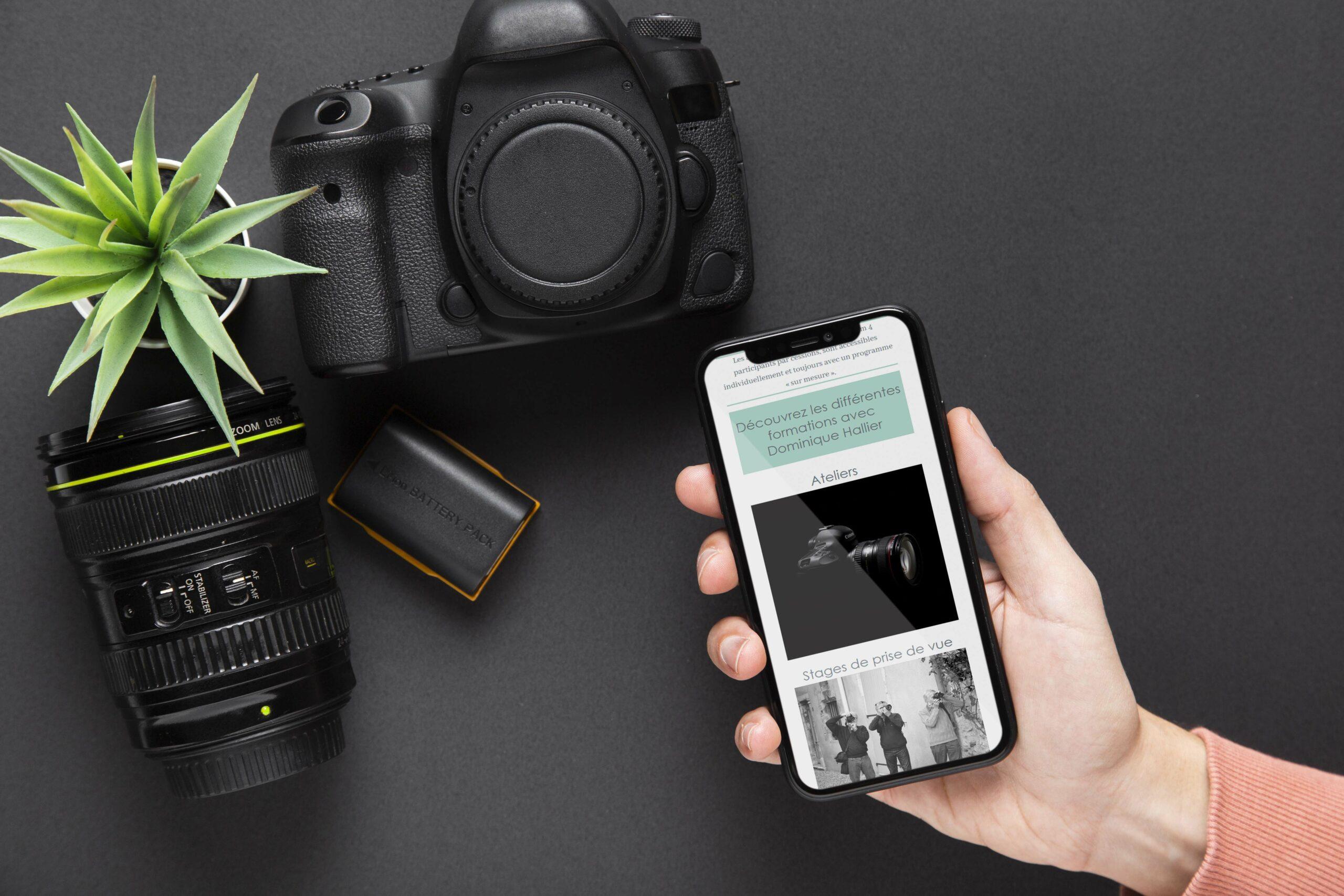 Instants d'images site responsive version mobile