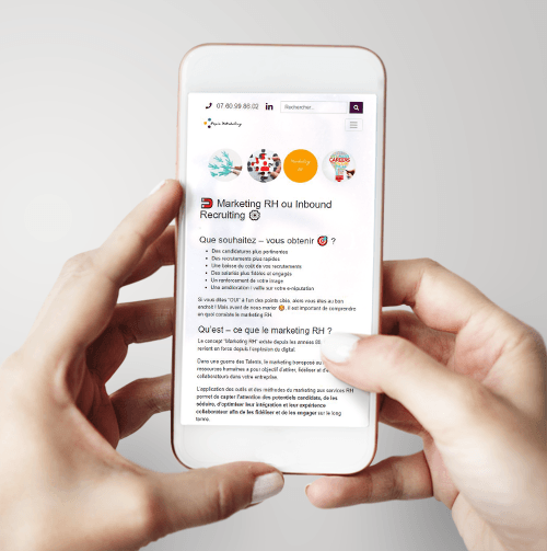 Version Mobile du site Pep's Marketing