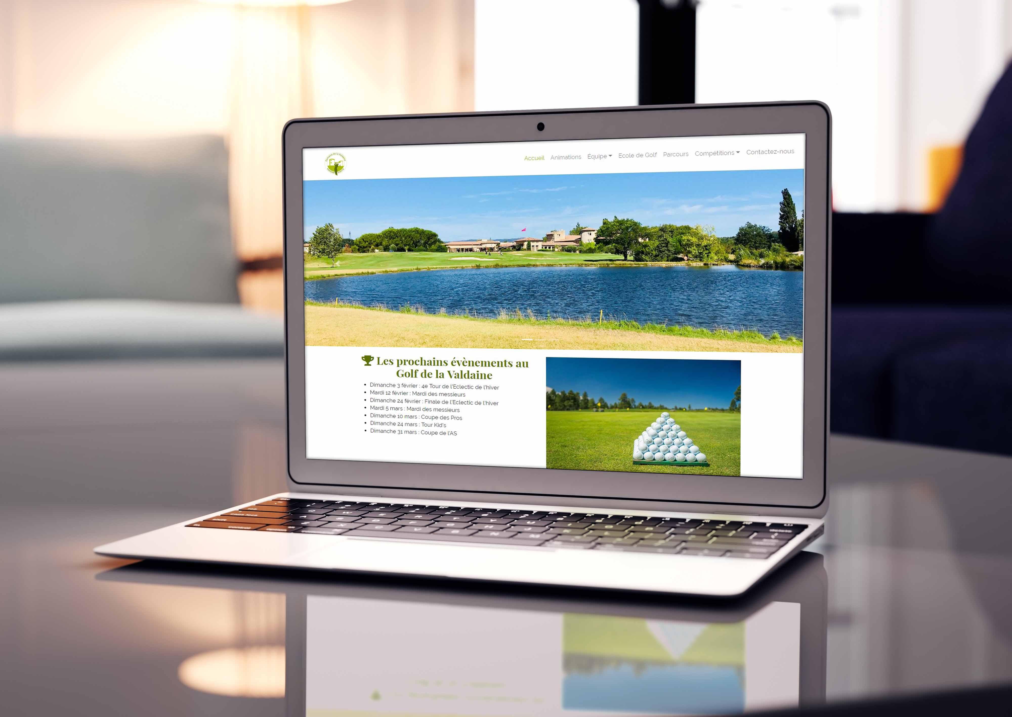 Site Web AS golf de la Valdaine