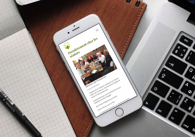 Site responsive AS golf de la Valdaine