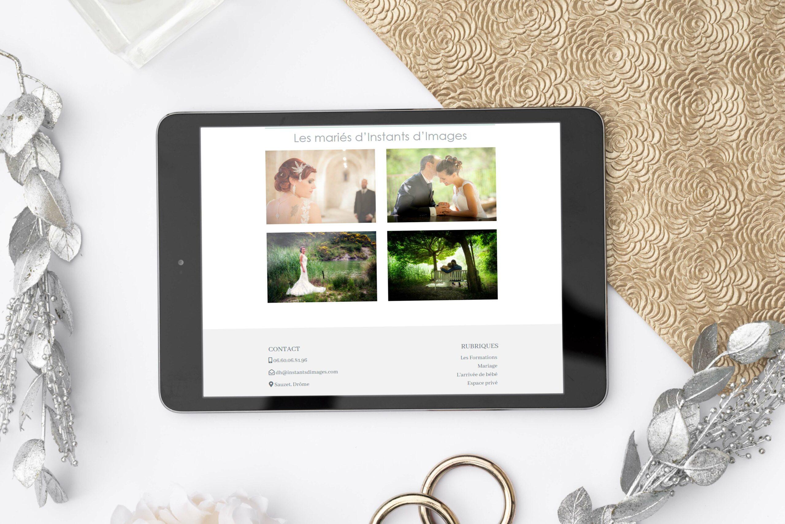 Instants d'images site responsive version tablette